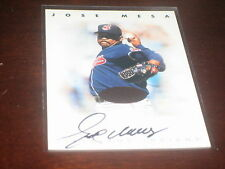 JOSE MESA SIGNED AUTOGRAPHED BASEBALL CARD CERTIFIED