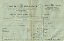 Ferrovie dello Stato Mod. 1-101 Trasporti di Derrate Alimentari - Intonso 1915