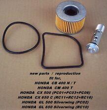 Honda CB 400 N + T_CX 500_GL 650_Ölfilter + Ölfilterbolzen_oil filter + bolt