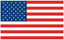 "5"" American Flag USA Decal Sticker Vinyl Patriotic Stars and Stripes"