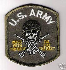 US ARMY OEF OIF DOA CTU IRAQ WAR DIE LIKE REST PATCH