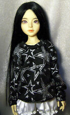 Black/glitter stars sweatshirt for MSD, DIM Happy, 1/4 bjd DOLL