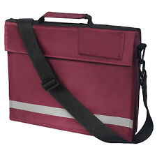 Burgundy Euro A4 Book Bag With Strap Kids Junior School Conference Reflector