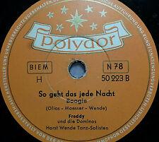 "FREDDY QUINN ""Rosalie / So geht das jede Nacht"" Polydor 78rpm 10"""