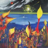 Robie Julian Untitled 50X50 Oil on Canvas Original Painting Cuban Art Undated