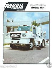 Equipment Brochure - Athey - TE-4 - Mobil Street Sweeper - c1982  (E3135)