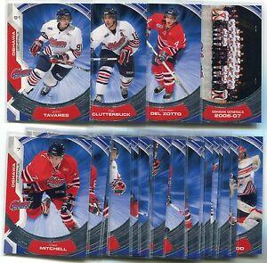 2006-07 Oshawa Generals Complete Set of 24 Clutterbuck Del Zotto Tavares Rookie