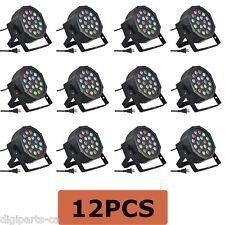 12PCS 12 Pack 18 3 in 1 RGB PAR LED DMX512 Disco DJ Stage Lighting 71-052X12PCS