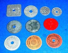 Lot of Sales Tax Tokens fm Colorado, Kansas, Oklahoma & Missouri