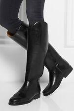 Le Chameau Azelan Prestige Zip Up Equestrian Riding Rain Boots Black 7.5 EU 40