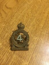 More details for 4th county of london  yeomanry sharp shooters  cap badge maker  gaunt london