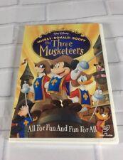 New Disney The Three Musketeers DVD 2004 Mickey Donald Goofy Pluto Pete Minnie