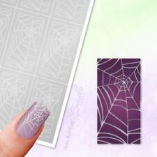 Schablonen für Airbrush und Nailart MU081 Spinnennetz Netz Spinne Muster