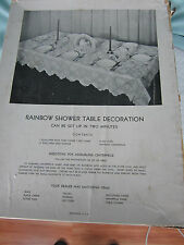 Vintage Table Decorations Rainbow  Baby Shower Crepe Paper Table cloth  Boy Girl