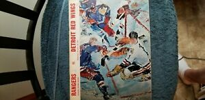 1967 NEW YORK RANGERS VS DETROIT RED WINGS PROGRAM GORDIE HOWE, ROD GILBERT