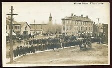 *2665 - ELORA Ontario 1912 Wellington. Horse Show. Town Square. Real Photo PC