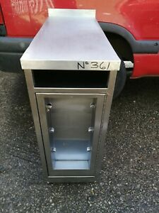 NO361 STAINLESS STEEL CUPBOARD 360MM X 875MM X 900MM HIGH