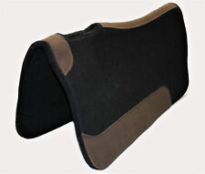 CE Classic Filzpad mit Leder Besatz schwarz Westernpad 81 x 81cm aus Filz 1,7cm