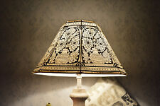 Mandala Large Floor Lamp Shade in Vintage Style | Leather Lampshade Hand Painted