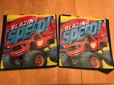 2 NEW Nickelodeon Kids Reusable Shopping Tote Bags - Blazing Speed