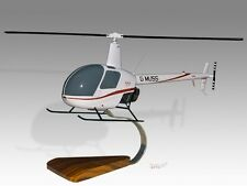Robinson R22 G-MUSS Mahogany Wood Desktop Helicopter Model