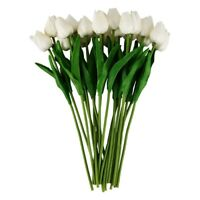 20pcs Tulip Flower Latex Real Touch For Wedding Decor Flower Best Quality K J8D6