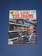 CLASSIC TOY TRAINS MAGAZINE PREMEIR ISSUE-FALL 1987