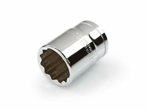 1/2 Inch Drive by 22 mm Shallow Socket 12 Point Slim Walls Shallow Well Tekton