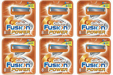 NEW AUTHENTIC Gillette Fusion Power Razor Blades Cartridge Refills - 48 Count
