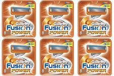NEW AUTHENTIC Gillette Fusion Power Razor Blades Cartridge Refills - 48 Count