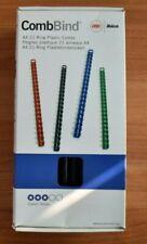 Plastik Binderücken 6mm - 8mm - 10mm - 12mm Blau/Schwarz /Gelb/Grau ca.750 Stück