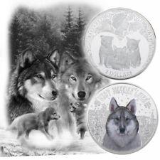 WR Snow Wolf Silver Coin 2 Dollars Elizabeth ii Anniversary Souvenir