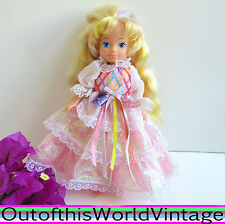 Vintage 80s LADY LOVELY LOCKS DOLL Doll Pink Excellent Dress 1980s CURLED HAIR