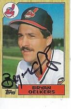 BRYAN OELKERS SIGNED 1987 TOPPS #77 - CLEVELAND INDIANS