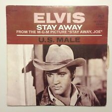 DISQUE 45T B.O FILM STAY AWAY JOE / ELVIS PRESLEY WITH THE JORDANAIRES STAY AWAY