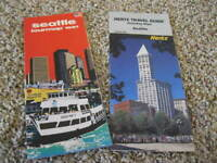 Vintage 1991 HERTZ TRAVEL GUIDE & SEATTLE TOURMAP*AAA Oregon Washington TourBook