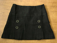 New Ladies Womens Casual Wool Mini Skirt Black Pink Cream
