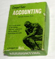 Vtg Vis Ed Compact Facts Cards Accounting Principles Practical Effective in Box