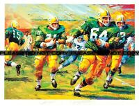 Green Bay Packers Jerry Kramer and Jim Taylor signed Lithograph Large REPRINT