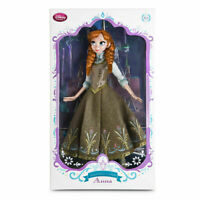 """DISNEY STORE LIMITED EDITION DOLL ANNA 17"""" LE 5000 FROZEN GREEN DRESS"""