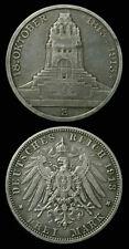 1913 Saxony Silver 3 Mark - Leipzig Memorial - High Grade
