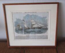 "Framed Print - Illustrated London News 1861 - THE STEAM SHIP SICILIA - 14"" x 12"""