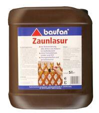 Baufan Zaunlasur lösungsmittelfrei  5l  Holzschutz Lasur Holz Plege