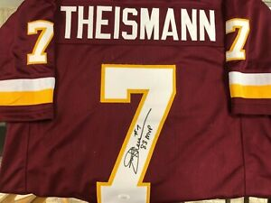 Joe Theismann Washington Redskins Autograph Jersey JSA 83 MVP Inscription