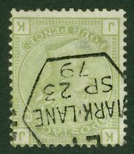 Inverted watermark SG 153 4d sage green plate 16. Very fine used with crisp...