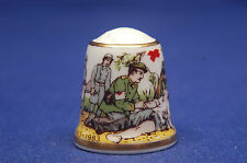Sutherland Red Cross Active In Peace As In War China Thimble B/17