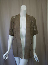 a pea in the pod Maternity Brown Cardigan Sweater Top size L Excellent