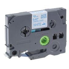 Compatible for Brother TZE-FA3 blu su bianco 12 mm x 3 M ferro su nastro di tessuto etichetta