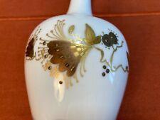 Vase  weiß mit Malerei Studioline Rosenthal elegant