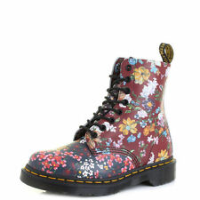 Leather Ankle Boots Floral Shoes for Women